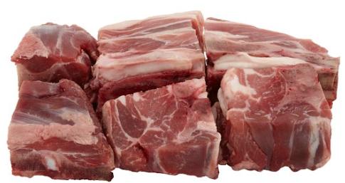Lamb/Mutton/Goat Cubes on Bone