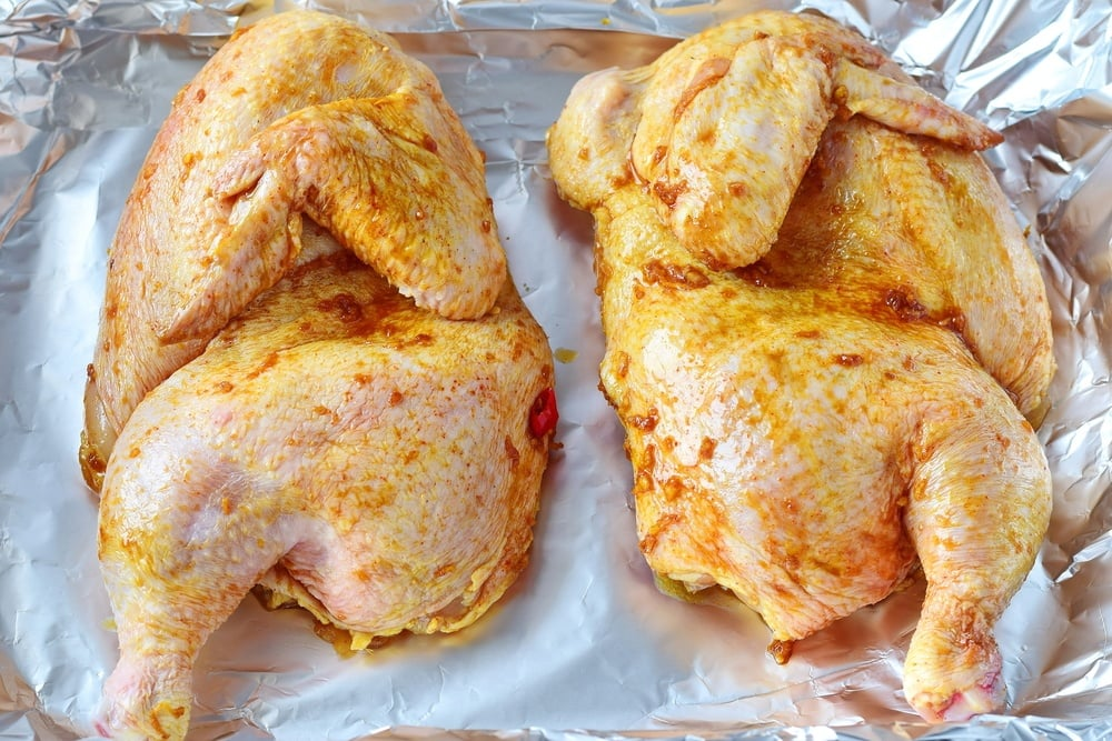 Marinated Capon chicken
